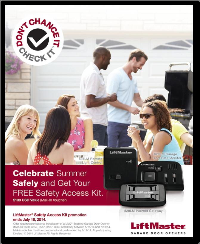 June 2014 Liftmaster Summer Safety Promo - Full Ad