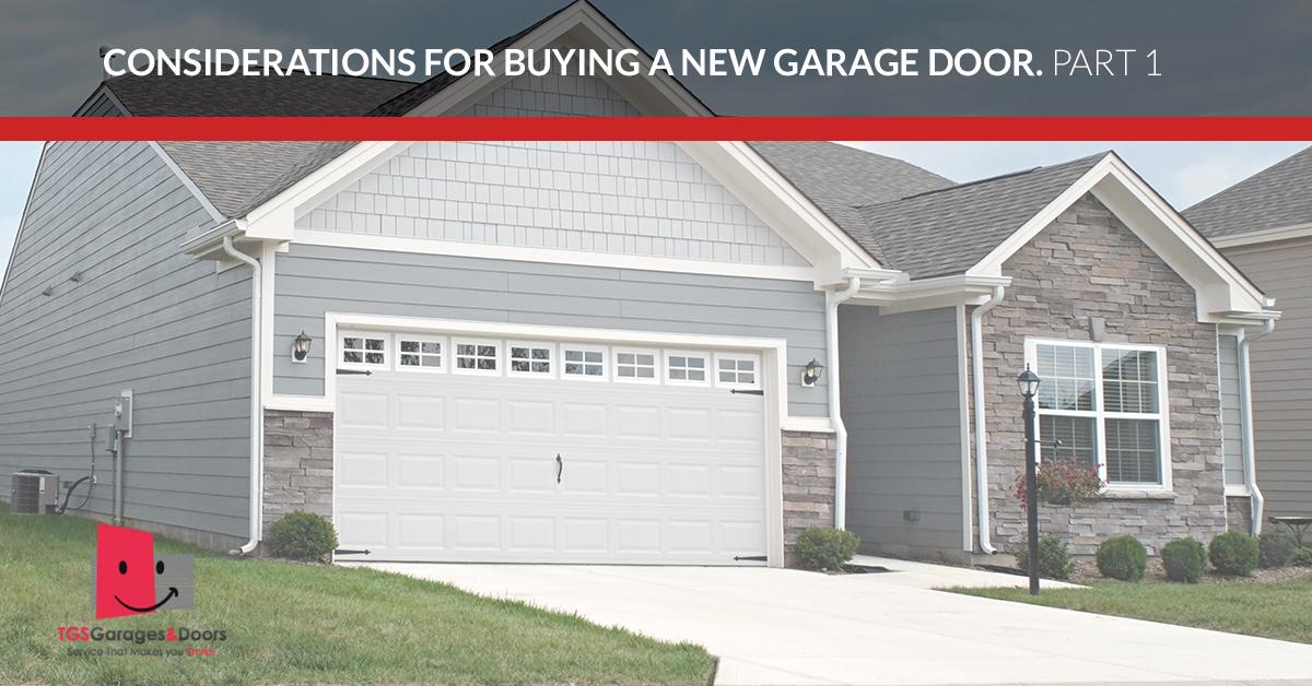 New Garage Doors New Jersey Considerations When Buying A New Door