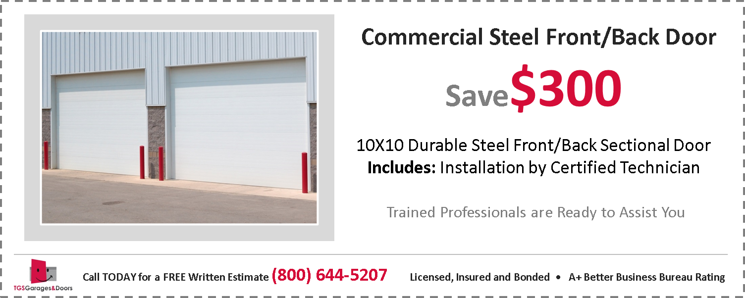 Commercial Steel Front/Back Door