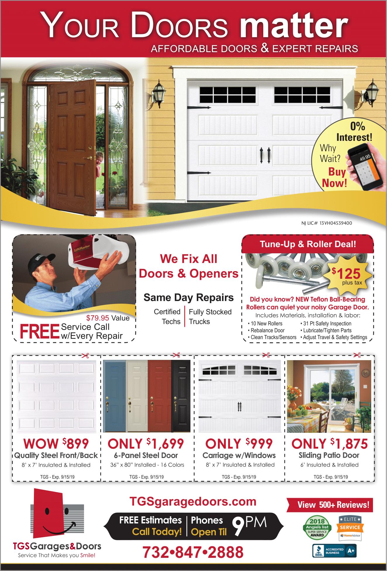 TGS Garage Doors Specials