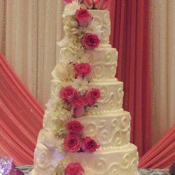 Beautiful flower Wedding Cake   floral wedding cakes   frisco wedding cakes   southlake wedding cakes   custom cakes in grapevine   mansfield wedding cakes