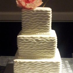 Waves of Love Wedding Cake | Specialty Wedding Cakes in DFW North Dallas Texas