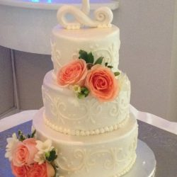 Rose Wedding Cakes | Floral wedding cakes | frisco wedding cakes | grapevine wedding cakes | dallas custom cakes