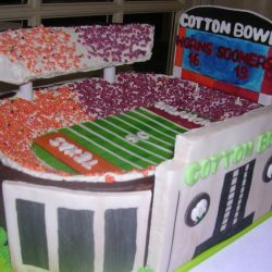Cotton Bowl Sculpted Cake