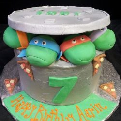 Ninja Turtle peepers | Ninja Turtle Birthday Cakes | Sculpted Cakes
