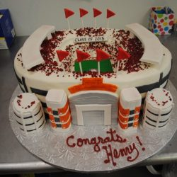 Alabam Crimson Tide Specialty Sculpted Graduation Cakes | custom sports cakes | grooms cake | Arlington, TX