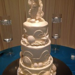 specialty cancun wedding cake, seahorse wedding cake, fort worth wedding cakes | Arlington, TX