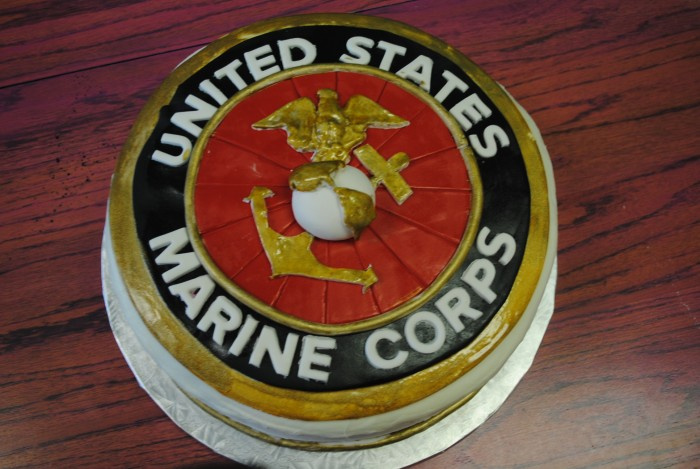 Outstanding Marine Corps Birthday Cake Thats The Cake Birthday Cards Printable Trancafe Filternl