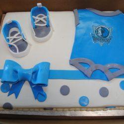 Dallas Mavericks sheet cake, baby shower cakes, arlington bakery, custom cakes | Arlington bakery