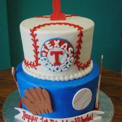 Texas Rangers, Birthday Cakes, Baseball cakes, texas rangers cakes, specialty cakes, 1st birthday cakes, That's The Cake Bakery, Arlington, TX