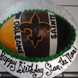 Football Themed Cakes | NOLA Saints | New Orleans Birthday Cakes | Grapevine Birthday Cakes