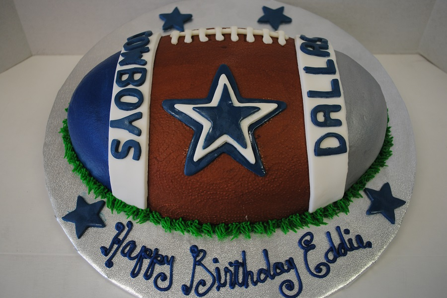 Amazing Dallas Cowboys Custom Cakes Thats The Cake Bakery Personalised Birthday Cards Veneteletsinfo