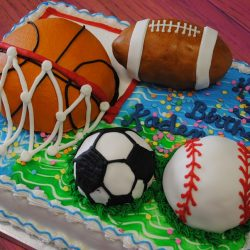 Enjoyable Sports Themed Cakes Birthday Cakes Dallas Bakery Thats The Cake Funny Birthday Cards Online Elaedamsfinfo