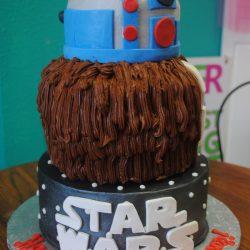 specialty cake, cake tasting, star wars cake, character cake