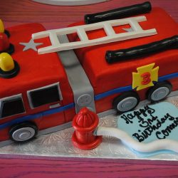 3D Cakes, Best Bakeries in Dallas, Custom Firetruck Cake