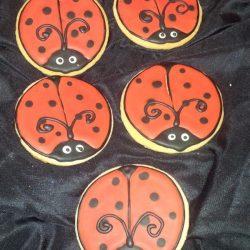Ladybug cookies, custom cookies arlington, custom cakes dallas, that's the cake, ladybugs, sugar bee sweets