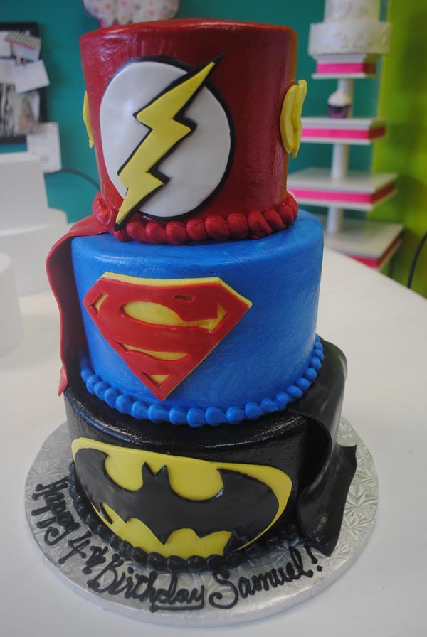 Black Stripes Superhero Cakes