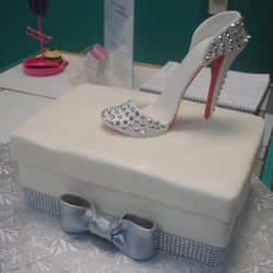 High Heel Shoe cakes | silver cakes | dallas bakery | fort worth bakery