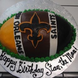 New Orleans Saints, NOLA birthday cakes, football birthday cakes, football cakes, dallas birthday cakes