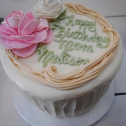 Floral and Ruffled Birthday Cake, Birthday cakes in Arlington texas, birthday cakes in fort worth texas, affordable cakes in Arlington, affordable cakes in dallas, birthday cakes in dallas, birthday cakes in southlake, birthday cakes in irving, birthday cakes north texas