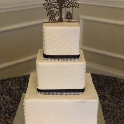 Black and White Wedding Cake, Dallas Cakes, Custom Simple Wedding Cakes, Lewisville Bakery, Southlake Bakery