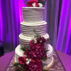 Ruffled Wedding Cake, Buttercream Ruffles, Arlington Wedding Cake Bakery