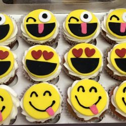 Emoji cupcakes, Dallas cupcake bakery, custom cupcakes, delicious cupcakes, party cupcakes, bakery in Arlington, bakery in dallas, bakery in Lewisville, cupcakes in Arlington, cupcakes in Euless, cupcake bakery in north Arlington, specialty cupcakes, rosettes, bride and groom, bride and groom cupcakes, sweet treats in Arlington