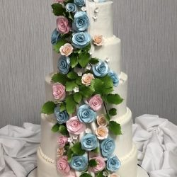 Floral Quince Cakes, Birthday cakes dallas, custom birthday cakes, dallas bakery, white birthday cakes