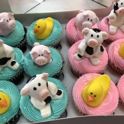 Rubber Duckie, Cows, Pigs, Dallas Cupcakes | Fort Worth Cupcakes | That's The Cake | Dallas cupcake bakery, custom cupcakes, delicious cupcakes, party cupcakes, bakery in Arlington, bakery in dallas, bakery in Lewisville, cupcakes in Arlington, cupcakes in Euless, cupcake bakery in north Arlington, specialty cupcakes, rosettes, bride and groom, bride and groom cupcakes, sweet treats in Arlington