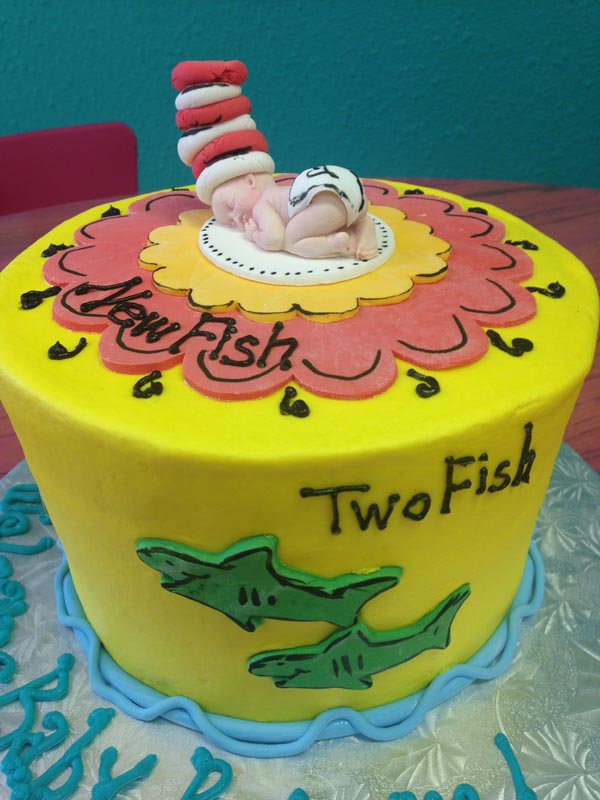 Onesie With Ruffles Dr Suess Cakes Baby Shower Plano Bakery In Dallas Arlington