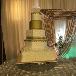 Gold Wedding Cakes, Dallas Wedding Cakes, Bakeries in Arlington TX, Cake Bakery in Arlington TX