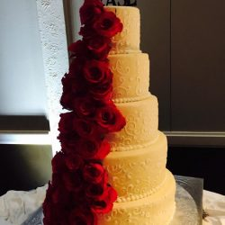 Red Roses wedding cake | fort worth wedding cakes | arlington wedding cakes