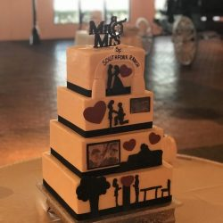 Story board cakes, buttercream cakes, plano wedding cakes