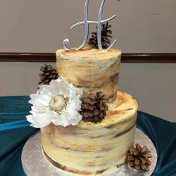 Small Birch Wedding Cake | Dallas Wedding Cakes | Arlington Wedding Bakery | Frisco Wedding Cake
