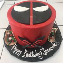 Deadpool Birthday Cake | Taco Cake | Dallas | Fort Worth Birthday Cakes