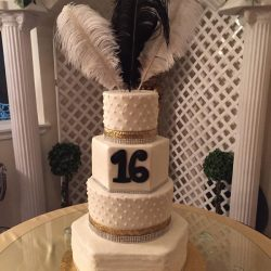 Gold 16th Birthday Cake | Dallas Birthday Cakes, Custom Cakes Southlake, Mansfield Bakery