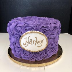 Gold and Purple Cakes, Dallas Bakery, Small Birthday Cake Southlake, TX