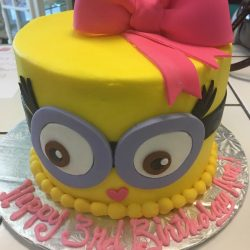 Custom cakes dallas | Minion layered cake | small birthday cake for girl