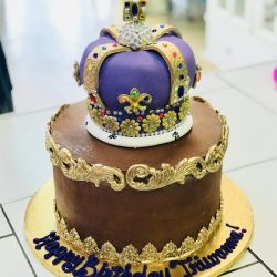 Gold and Brown Cakes, King Cakes, Arlington Cake Bakery, Euless Bakery