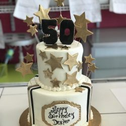 Gold Birthday Cakes, Star Cakes, Fort Worth Cake Bakery, Arlington Cakes
