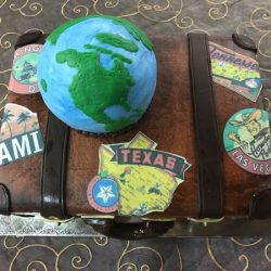 traveling, world traveler custom cakes, fort worth bakery, dallas custom cakes, delicious cakes dallas, sugar bee sweets, the london baker, fancy cakes by lauren