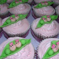 Peas in a pod cupcakes, custom cupcakes dallas, thats the cake, DALLAS custom cakes
