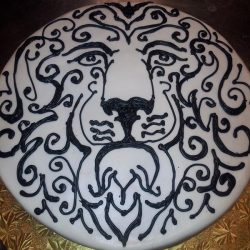 Lion cake, hand painted cakes, lion specialty cakes, dallas custom cakes, delicious cakes