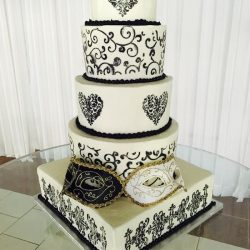black-white-weddingcake | dallas | fort worth | arlington wedding cakes, pearl Wedding Cakes, Stencil wedding cakes, silver wedding cakes, wedding cake ideas, frisco wedding cakes, plano birthday cakes, carrolton wedding cake bakery, grapevine wedding cake, irving wedding cakes, sugar bee sweets bakery