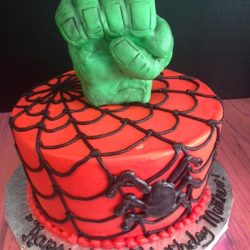 Hulk Fist & Spiderman, Birthday cakes in Arlington texas, birthday cakes in fort worth texas, affordable cakes in Arlington, affordable cakes in dallas, birthday cakes in dallas, birthday cakes in southlake, birthday cakes in irving, birthday cakes north texas
