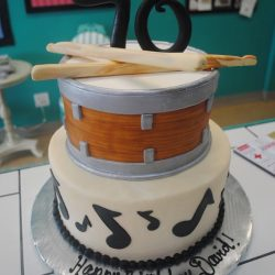 Music Notes & Drum with Sticks | That's The Cake