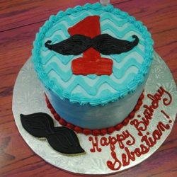 Mustache Birthday Cake | Boys Birthday Cakes | Dallas Bakery | Fort Worth Bakery
