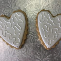 Heart Cookies with Squiggles, That's The Cake, Arlington bakery, Dallas Bakery, Dallas cookies, sugar cookies in arlington, decorated sugar cookies in north texas, fort worth sugar cookie bakery, DFW sugar cookies, decorated sugar cookies near me