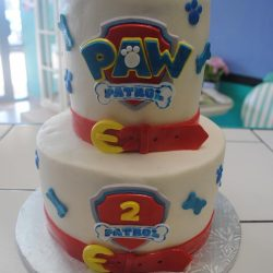 Splatter Painted Cake Paw Patrol Red