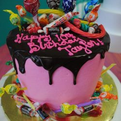 candy cakes dallas | arlington birthday cakes | cakes with candy | pink birthday cakes | smarties cakes
